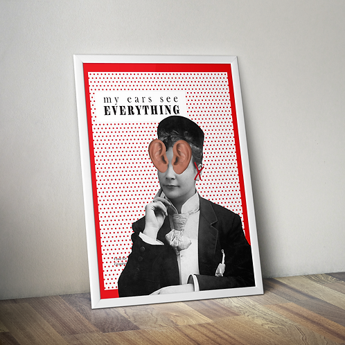 My Ears See Everything - 18x24 Poster