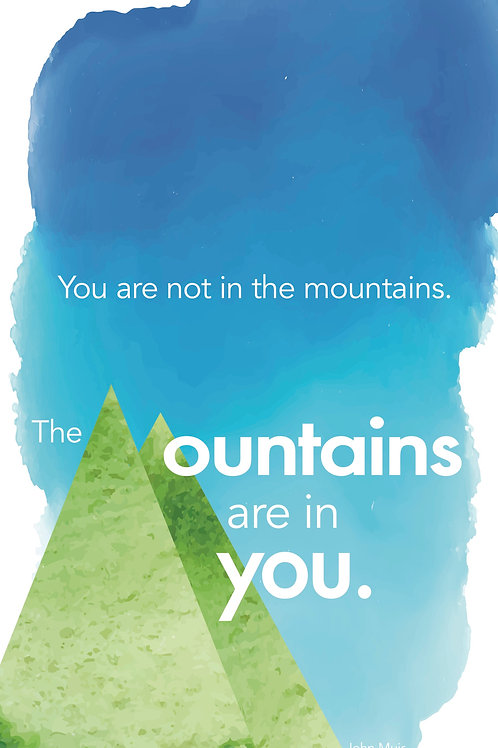 Inspirational Mountain Poster -13x19