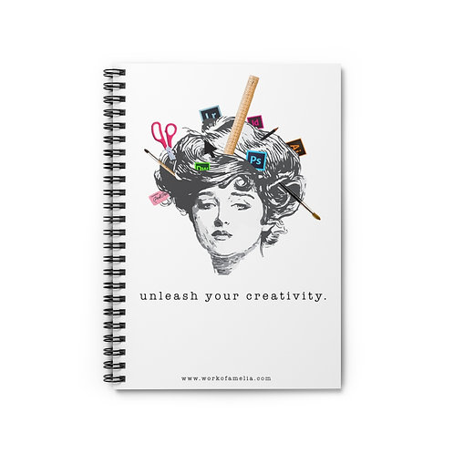 Unleash Your Creativity - Spiral Notebook