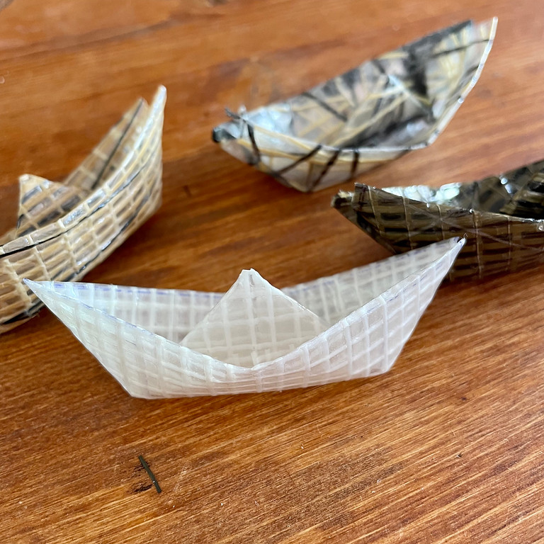 COP26 workshop in Glasgow: A sail's journey to it's second life, as a keychain