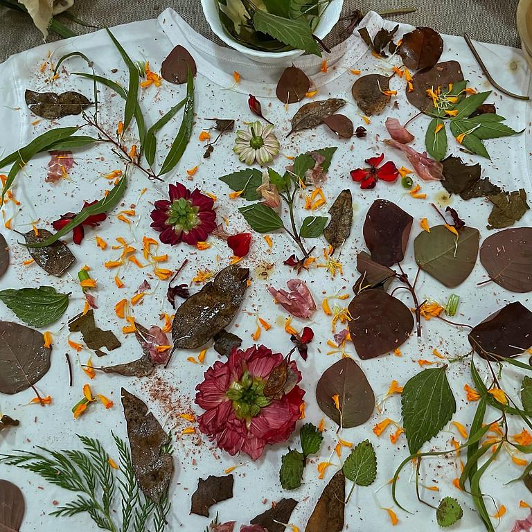 COP26 workshop in Glasgow: Autumn leaves eco-printing
