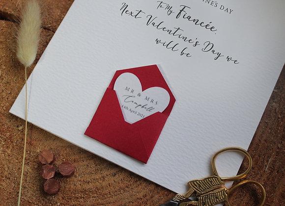 Happy Valentine's Day Card - Fiancé / Fiancée