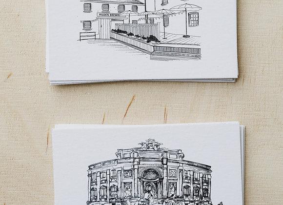 2 Personalised venue sketches