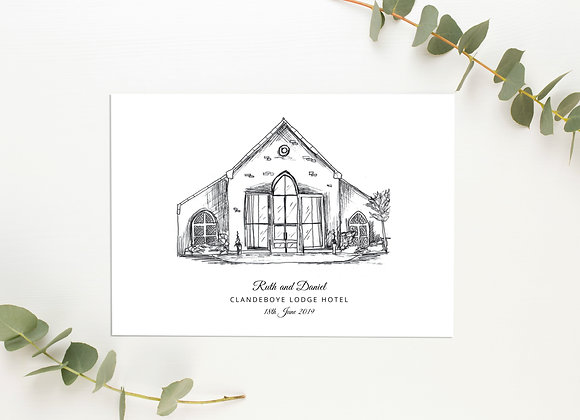Personalised Venue Sketch (Black and White)