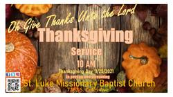 thanksgiving Service 2021