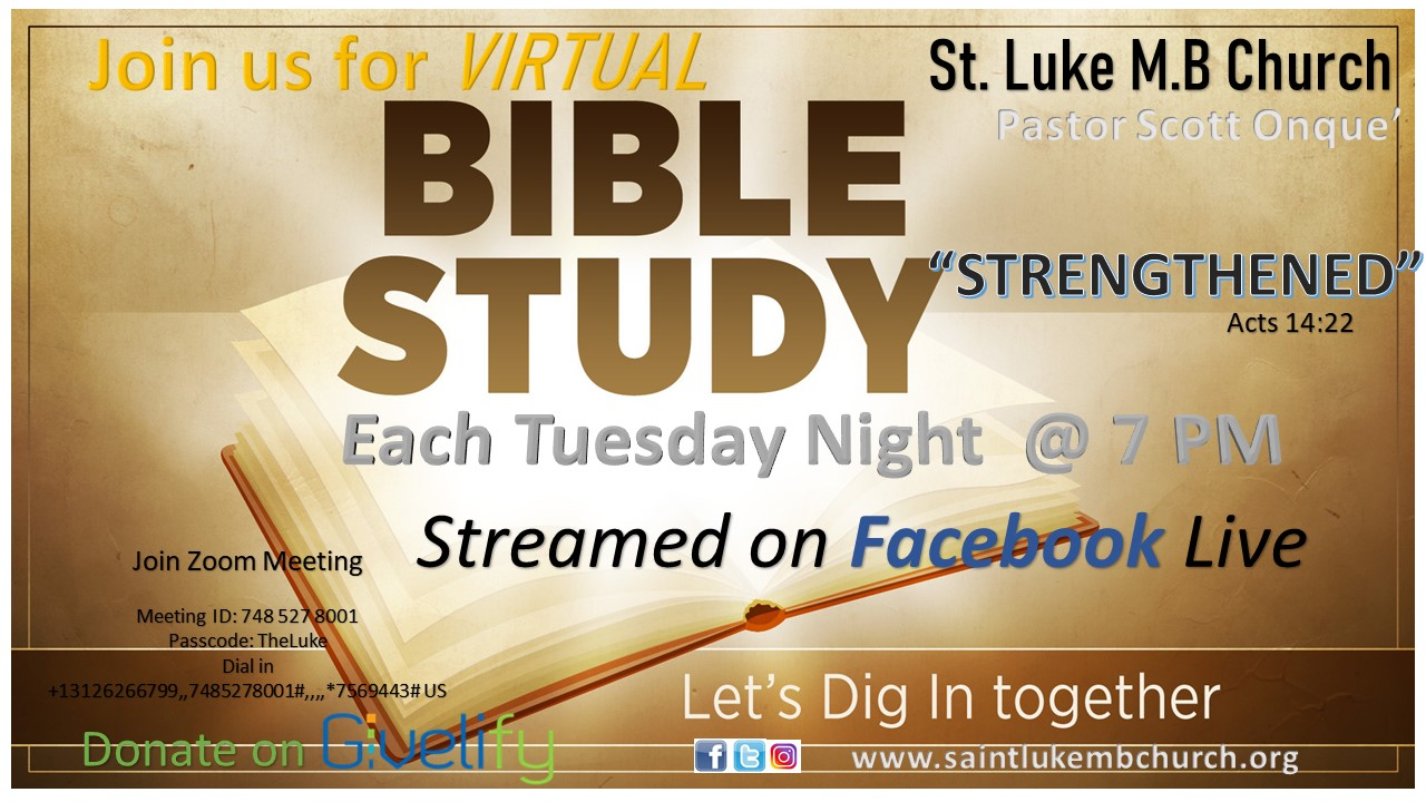 Virtual Bible Study Flyer