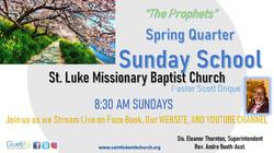 Virtual Sunday School Spring Flyer 2021.