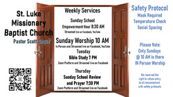 The Doors of the Church are Open! back