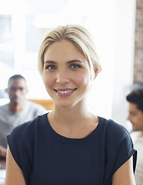 Image of young blonde woman pleased with getting Counseling for Abuse & Trauma