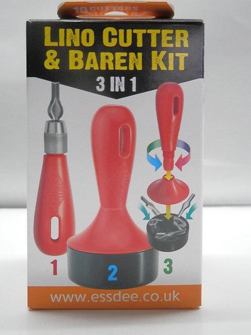 Lino Cutter & Baren Kit - 3 in 1