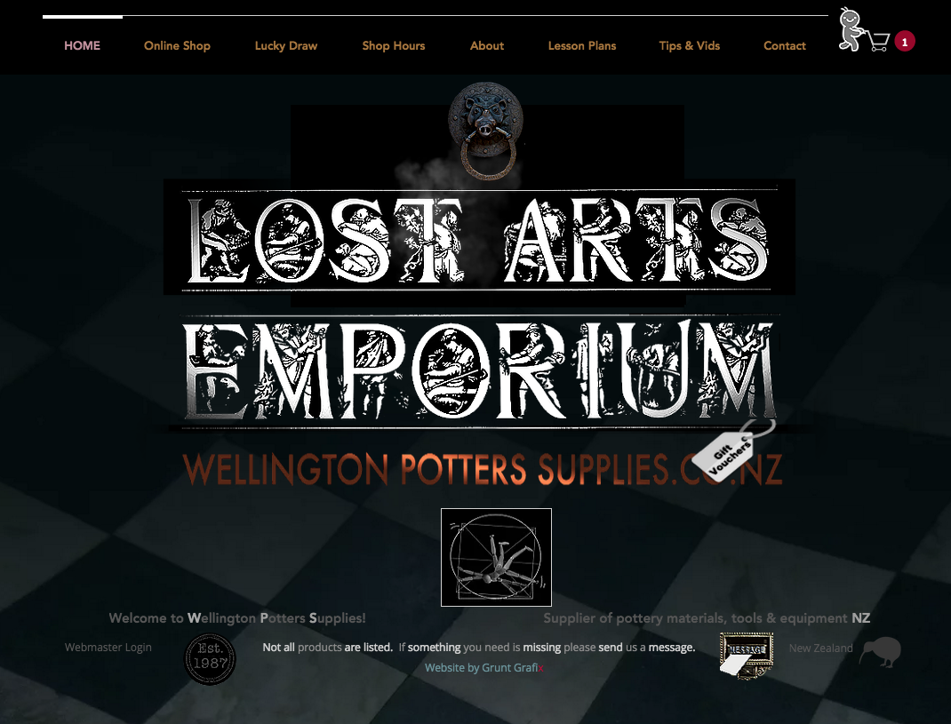 Wellington Potters Supplies website