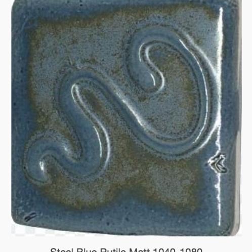 CESCO - STEEL BLUE RUTILE MATT GLAZE  5039 - 500ml