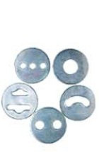 Set Of 5 Std Die Plates For Clay Extruder