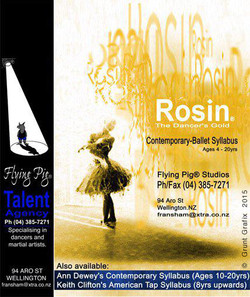 Sign for Rosin Conteporary-Ballet