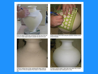How to Paint Convincing Patterns on Round Pottery Without Trigonometry : Ceramic Arts Daily