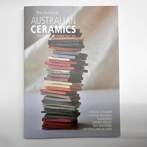 The Journal of AUSTRALIAN CERAMICS - Nov 2020