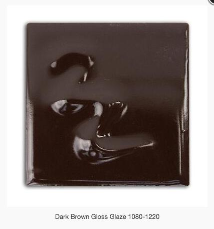 CESCO - DARK BROWN GLOSS GLAZE  5287 - 500ml