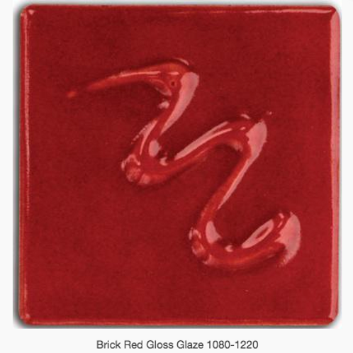 CESCO - BRICK RED GLOSS GLAZE  5492 - 500ml
