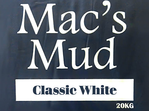 MAC'S MUD CLAY - Classic White 20kg - Buy online at Wellington Potters Supplies