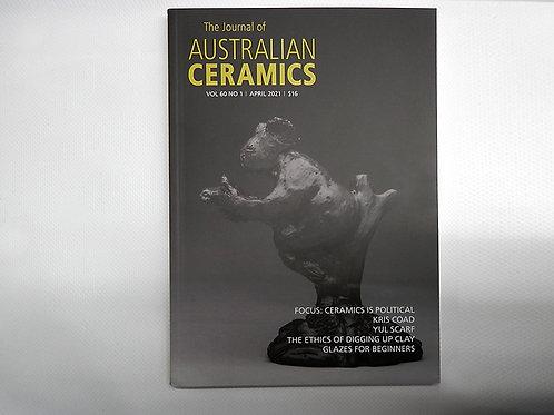The Journal of AUSTRALIAN CERAMICS - April 2021