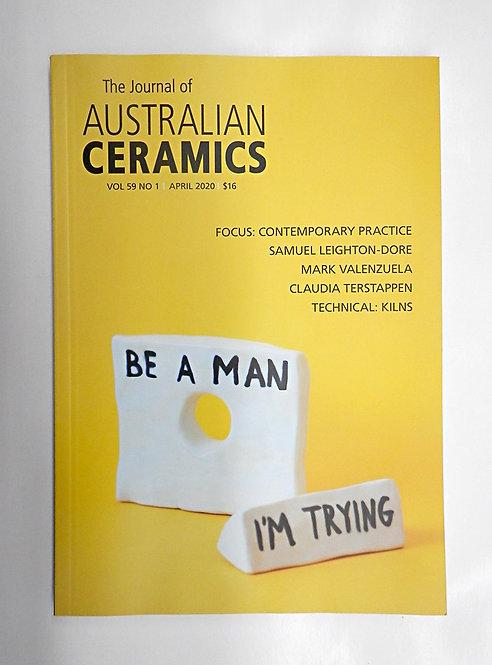 The Journal of AUSTRALIAN CERAMICS - April 2020