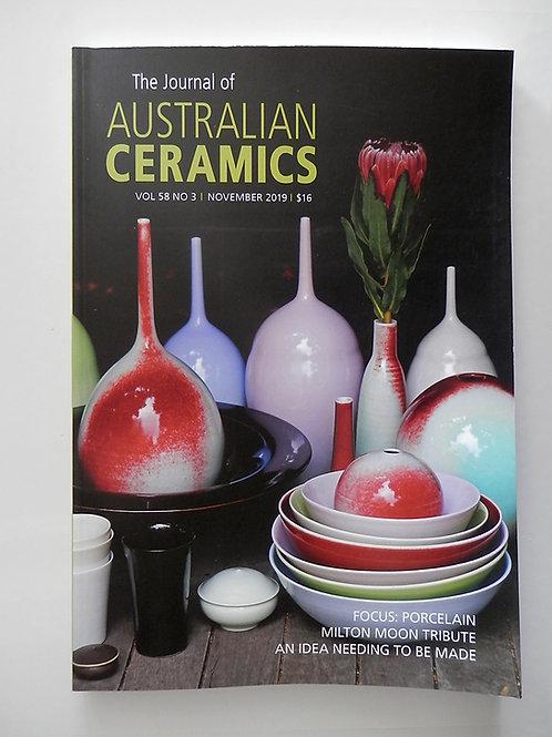 The Journal of AUSTRALIAN CERAMICS - Nov 2019