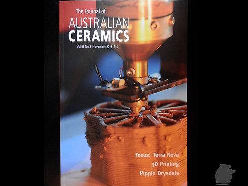 The Journal of AUSTRALIAN CERAMICS - Nov 2016