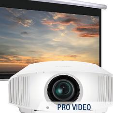 professional video; projectors; projector screens