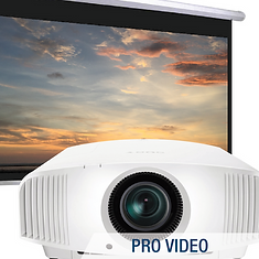 professional video; projectors; projector screens