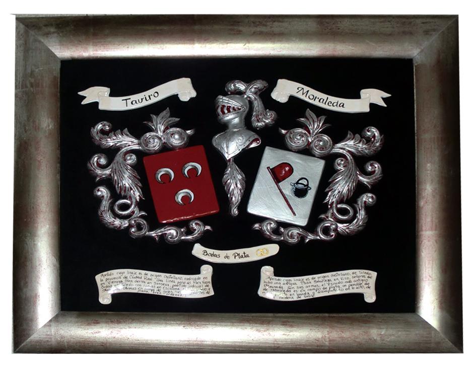 piezas esmalte con leyenda y aniversario