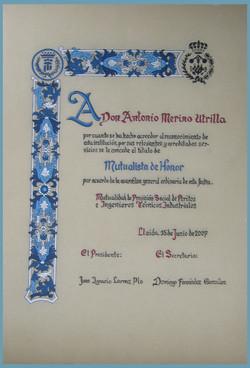 Diploma pintado a mano
