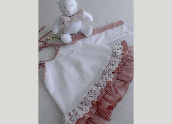 Camisola Laço Nó Rose - Adulto