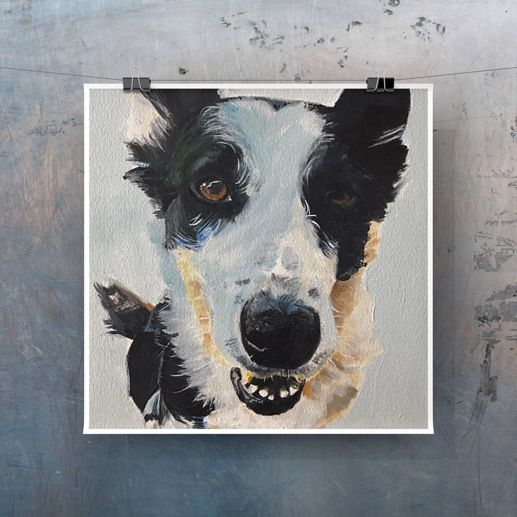 Wizzle the Collie - in oils