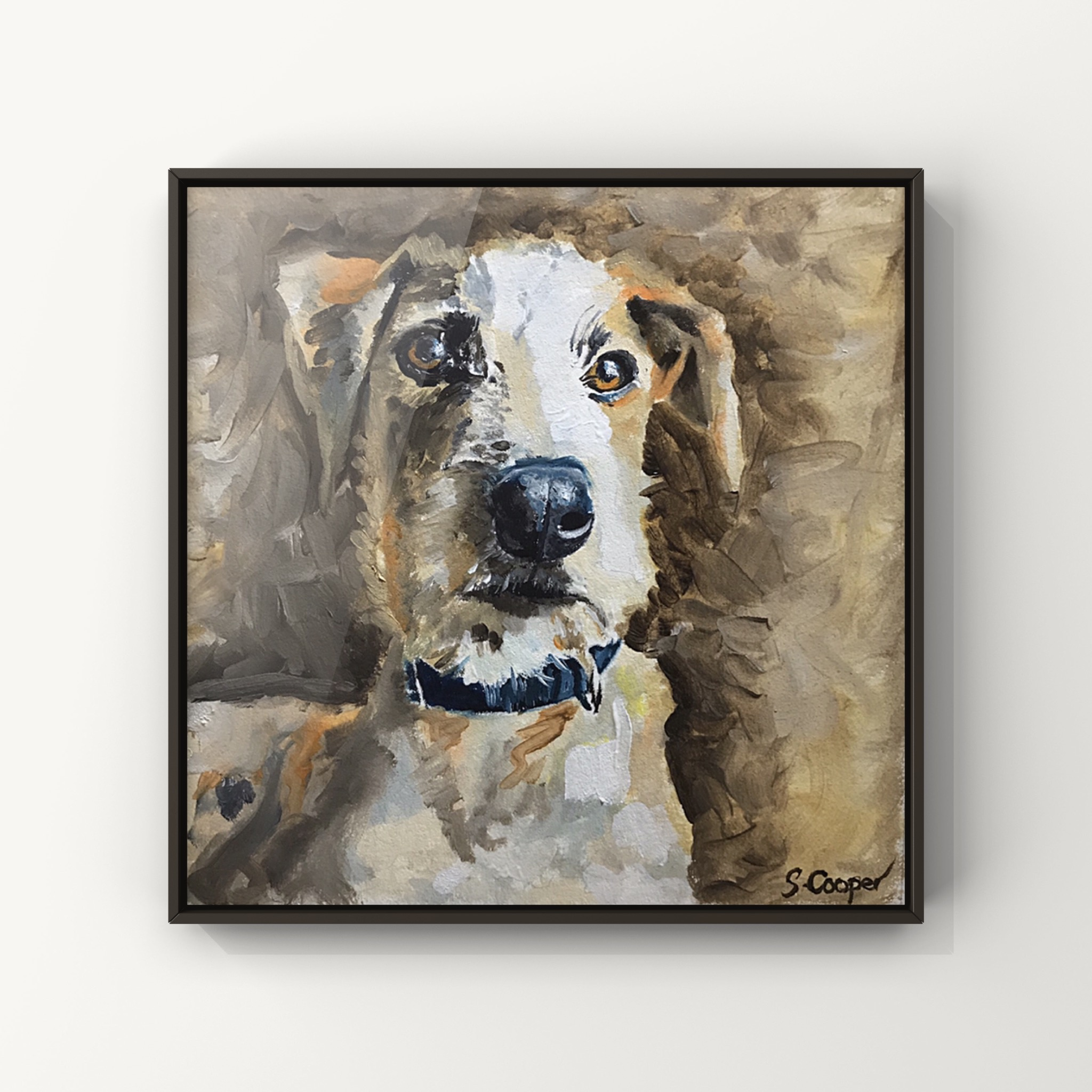 Feynman the Lurcher - Oils