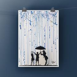 Rain Silhouette Watercolour