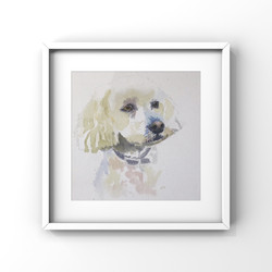 Dog Portrait Watercolours