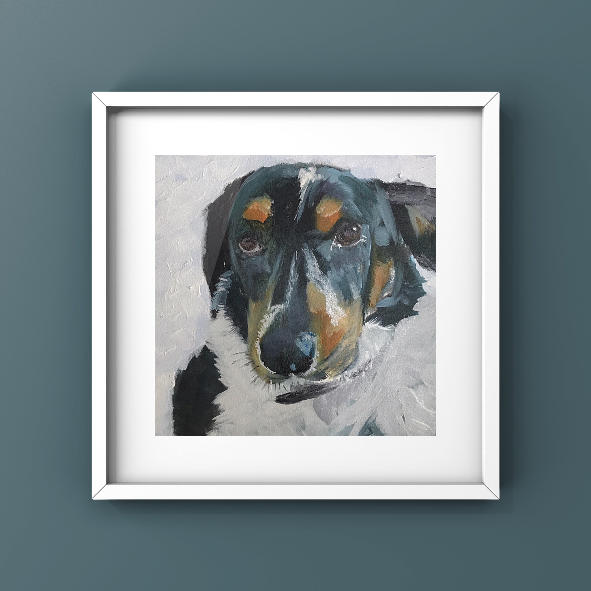 Dan the Collie - oils