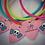 Thumbnail: GUITAR PICK SKULL RUBBER CORD KID'S BRACELET