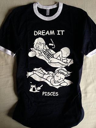 """PISCES """"DREAM IT"""" NAVY RINGER TEE"""
