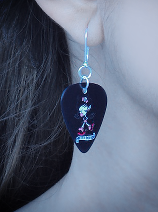 DEVLINE GUITAR PICK EARRINGS