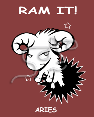 "ARIES ""RAM IT"" ART PRINT"