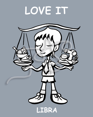 "LIBRA ""LOVE IT"" ART PRINT"