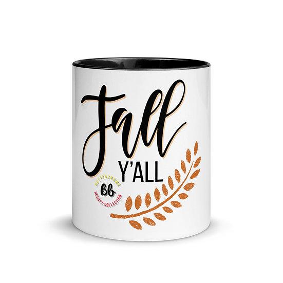 "White Ceramic Mug with ""Fall Y'all"""