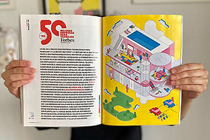 Game for Inditex Employee Magazine Features Adorable Illustrations