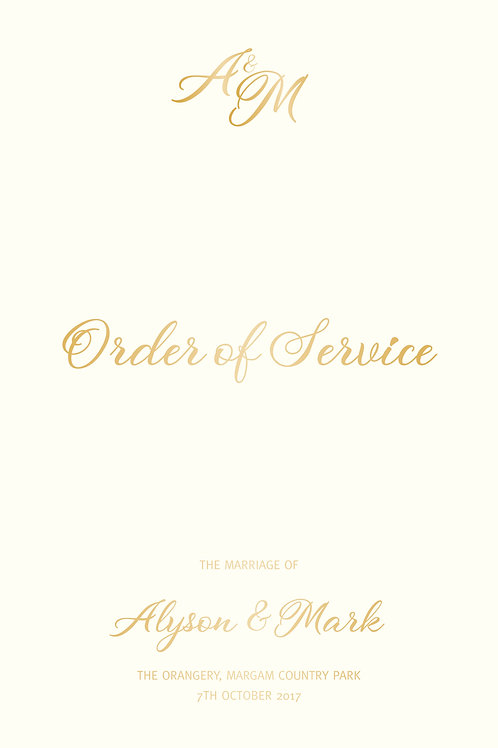 Windsor - Order of Service