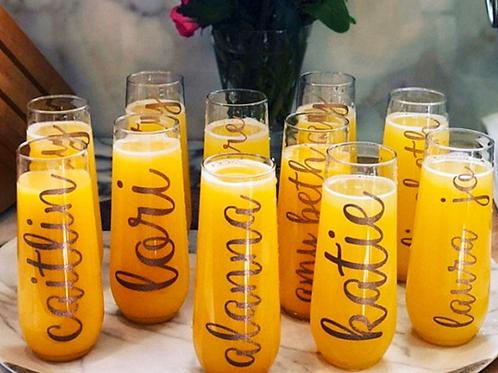 Stemless Champagne Flutes (Plastic)
