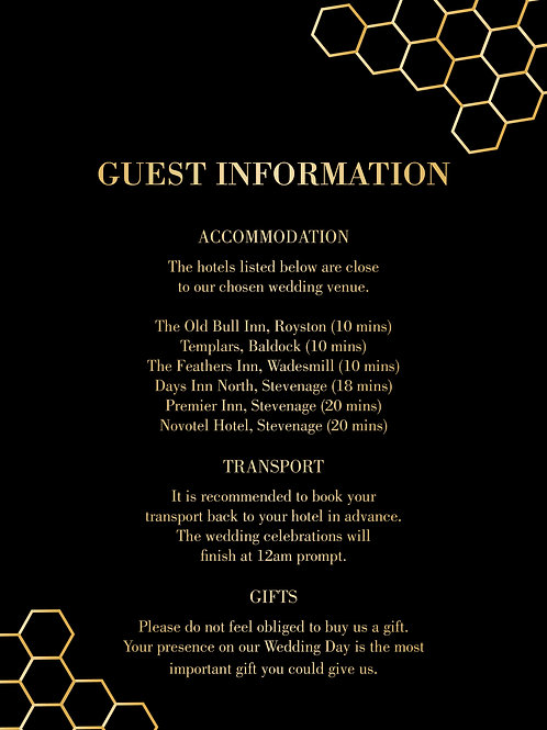 Amber Guest Information