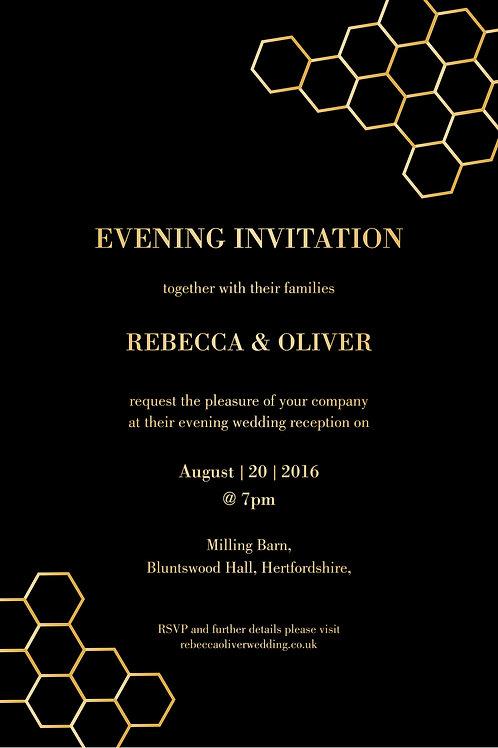 Amber Evening Invitation