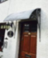 Door canopy, iron door canopy, steel door canopy, metal door canopy, adrian payne, little hampden forge