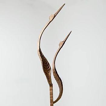 Metal sculpture, iron sculpture, steel sculpture, garden sculpture, exterior sculpture, forged sculpture, adrian payne, little hampden forge, heron sculpture, abstract sculpture